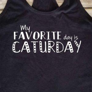 Caturday 🐈 / cat lover shirt / kitty mama tank